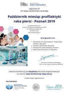 Październik miesiąc profilaktyki raka piersi – Poznań 2019.